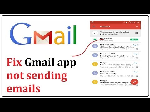 how to fix gmail app not sending emails