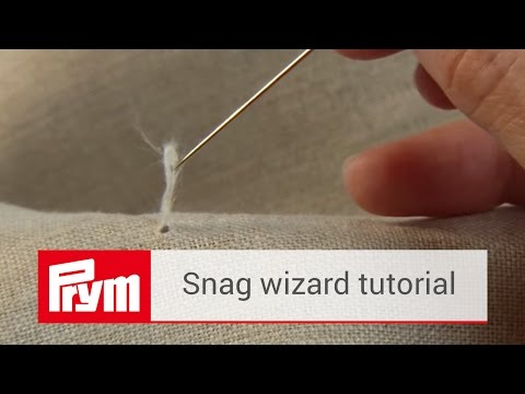 How to remove a thread with a snag needle | Prym snag wizard