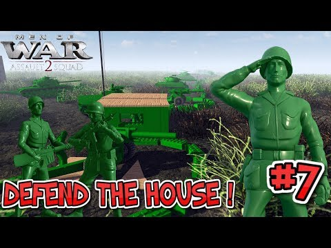 Epic Toy Trench Defences! Army Men of War Episode 7 : Defending Green territory