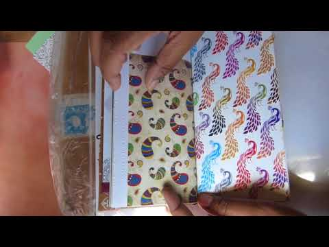Traveller's Notebook style junk journal for Sylvia with splashes of India