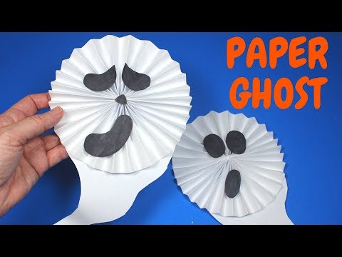 How to Make a Paper Ghost | Halloween Craft