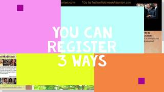 Foston Robinson Registration Tutorial