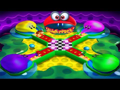 Mario Party 4 - All Tricky Minigames - Mario vs Luigi vs Yoshi vs Donkey Kong