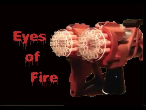 Nerf Mod: The EYES OF FIRE by FA24 (40 Darts in under 3 seconds)