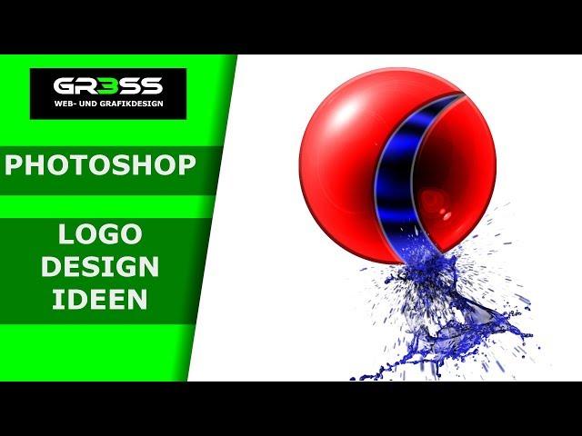 Photoshop Tutorial Logo Design mit Glas, Glanz und Wasser.