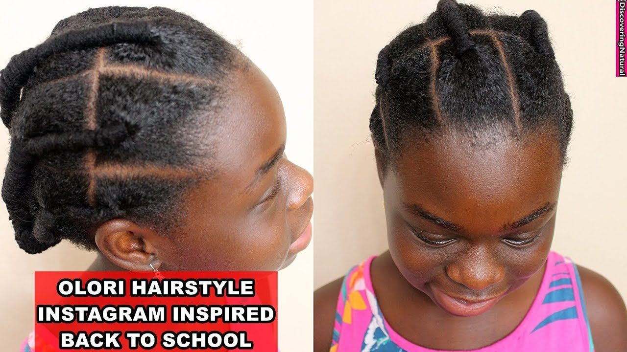 school natural hairstyle