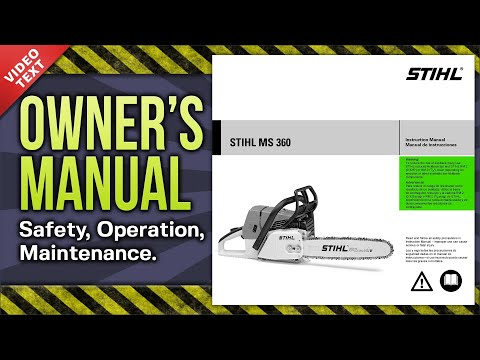 Owner's Manual: STIHL MS 360 Chain Saw