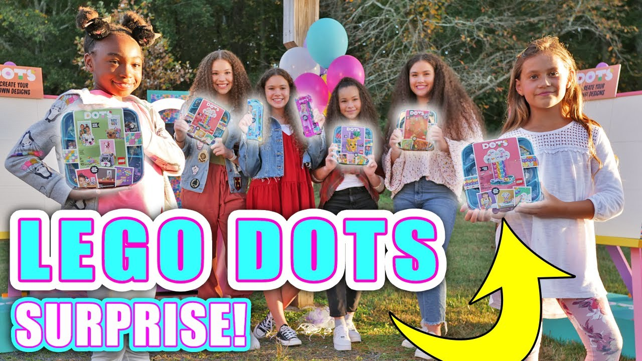 Surprising Fans with LEGO DOTS! (Haschak Sisters)
