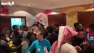بالفيديو  اشتباكات عنيفة في الدوري السعودي.. مدير اتحاد جدة يعتدي على مدرب الرائد