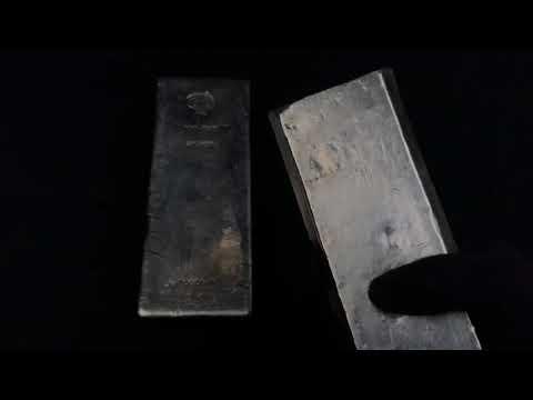 "Vintage Silver Bricks! Johnson Matthey London ""Melters Refiners"" 100oz Silver Bars! Rarely Seen!"