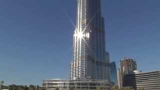 Beautiful Adhan from The Dubai Mall with Burj Khalifa | أذان جميل من دبي مول مع برج خليفة