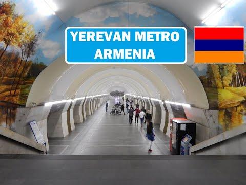 Yerevan Metro - Republic Square To Marshall Baghramyan And Back To Yeritasardakan - Armenia