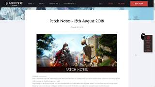 [BDO] Patch Notes: AFK Leveling and Savage Rift Changes - 15.8.18 Patch