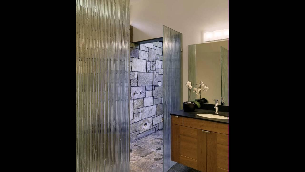 modernes bad mit steinmauer - youtube, Hause ideen