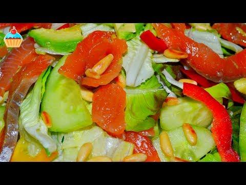 Семга с авокадо салат