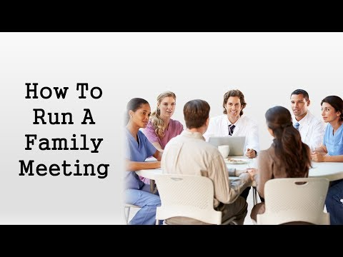 How you can Hold a Effective Family Meeting