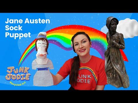 HISTORY OF JANE AUSTEN | Jane Austen Sock Puppet | Educational Craft Activities | Jane Austen ART