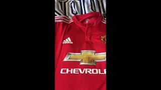 Elmontyouthsoccer.com 17-18 Manchester United home jersey Unboxing Review