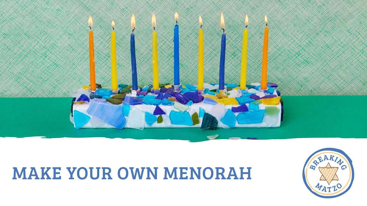 make your own menorah