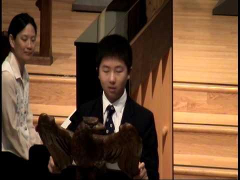 Kevin Ding, Chapel Speech - April 8, 2015