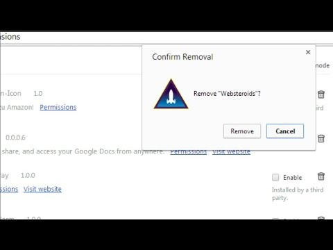 uninstall websteroids chrome