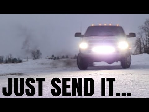 TRYING TO DO A 360 IN A 1 TON DUALLY DIESEL!? **BAD IDEA**
