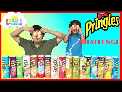 Thumbnail: PRINGLES CHALLENGE! Potato Chip Flavors Tasting Contest Ryan ToysReview