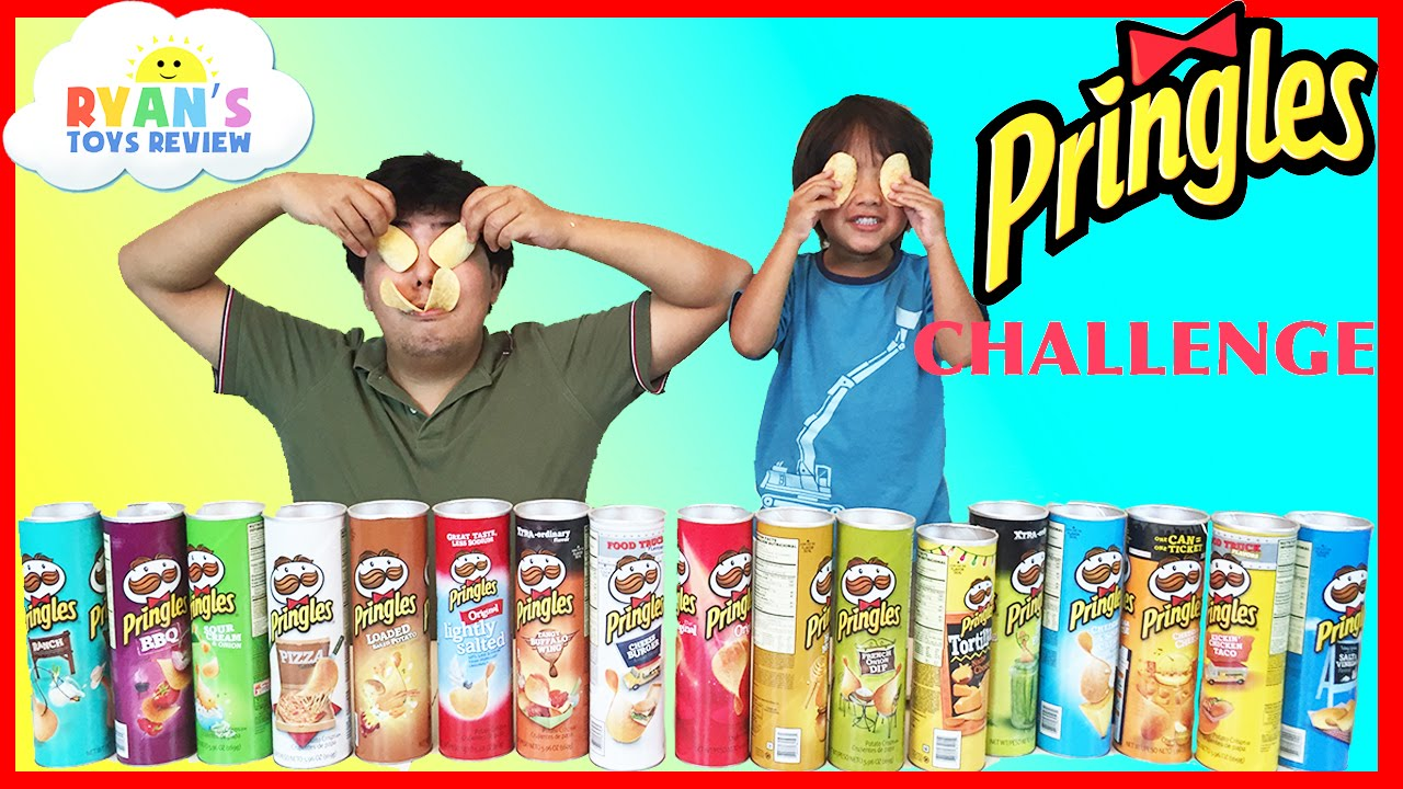 Download PRINGLES CHALLENGE! Potato Chip Flavors Tasting Contest Ryan ToysReview