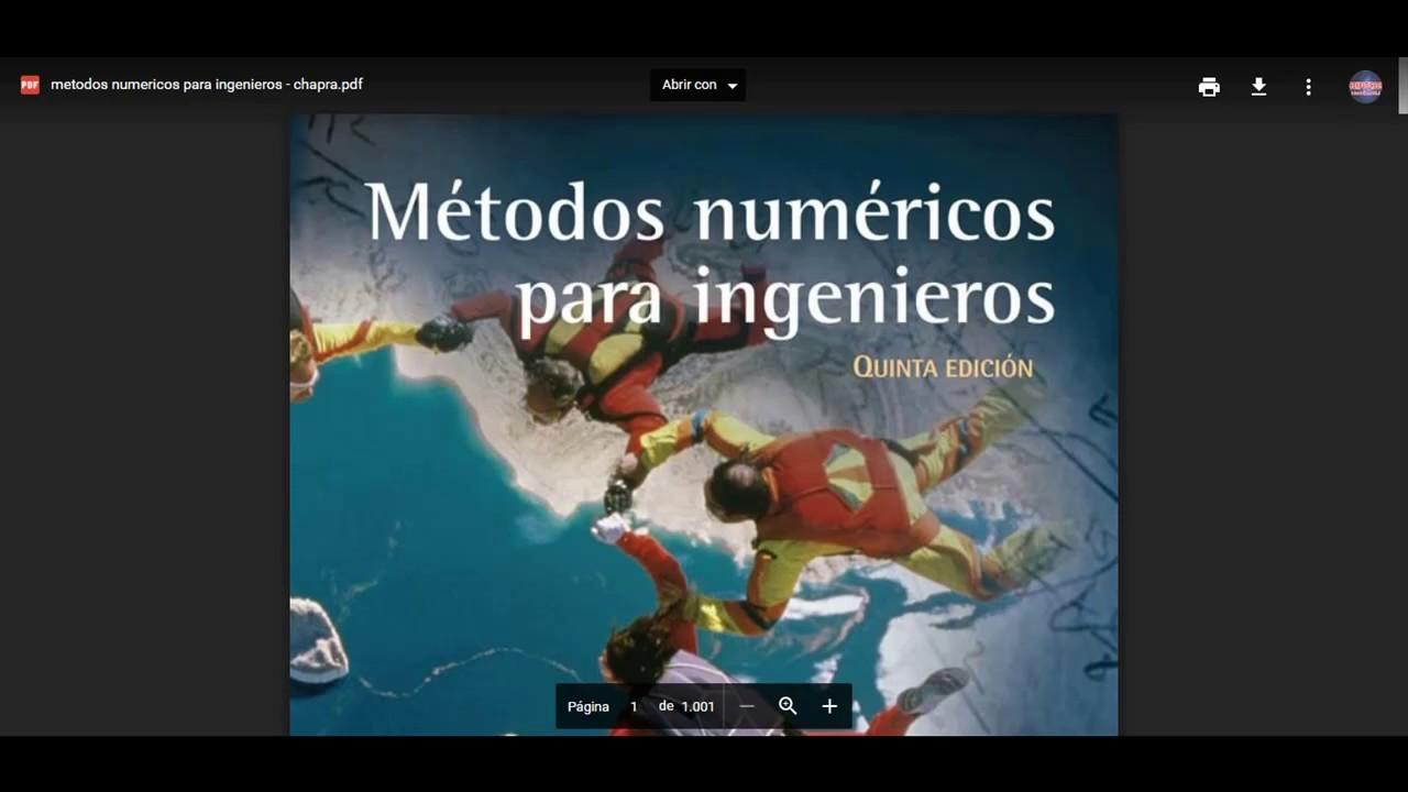 chapra metodos numericos para ingenieros gratis