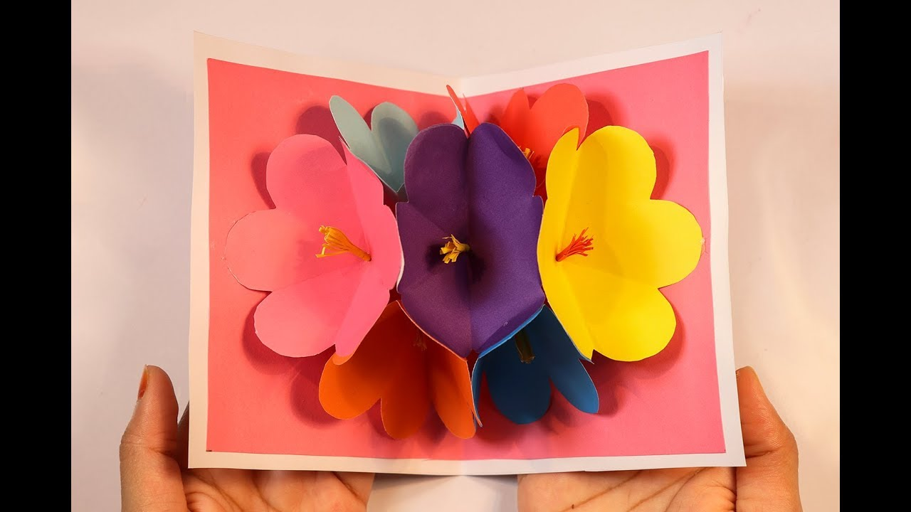 Flower pop up card how to make diy 3d flower pop up card flower pop up card how to make diy 3d flower pop up card christmas craft m4hsunfo Image collections