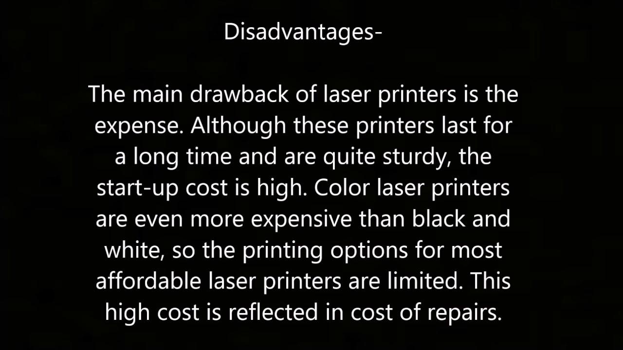 Printers-(Advantages and Disadvantages)