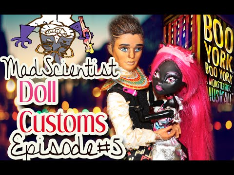 Mad Scientist Doll Customs: Episode 5 How to make a Boo York Pharoah Monster High doll