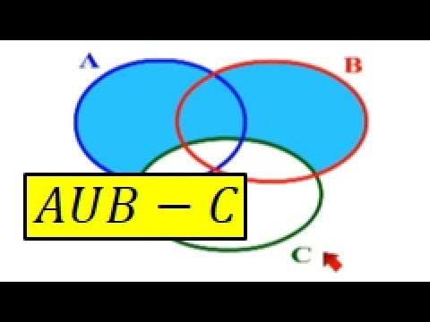 A union B menos C o AUB-C