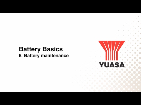 GS Yuasa - battery basics: 6. battery maintenance