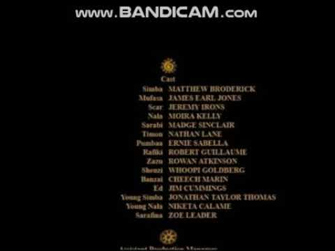 The Lion King: End Credits (Original Version) Remastered