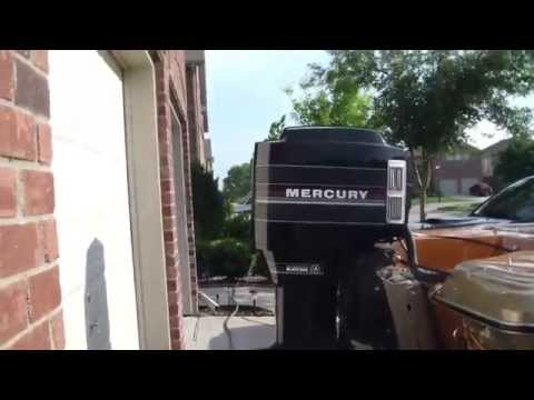 starting a 1986 mercury black max outboard 150hp - 1979 checkmate exciter -  1031ent - youtube
