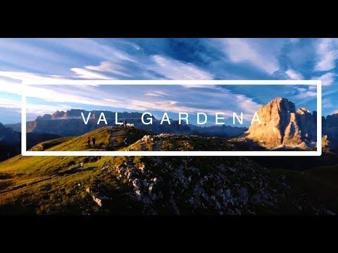 4K ALTO ADIGE / SOUTH TYROL / SÜDTIROL - GROEDEN / VAL GARDENA - DOLOMITES WITH DRONE