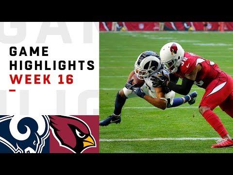 Rams vs. Cardinals Week 16 Highlights | NFL 2018