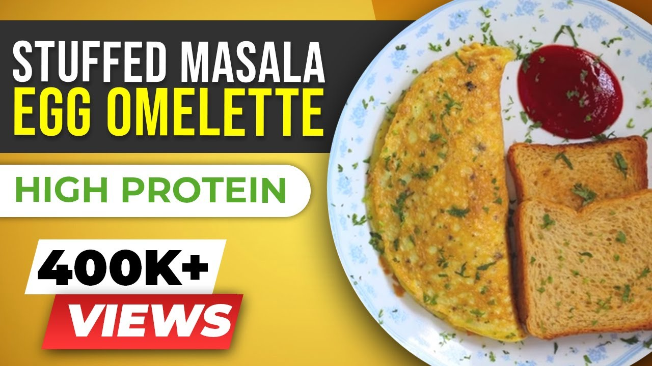 Stuffed Masala Omelette Egg Recipes Indian Style Beerbiceps Healthy Breakfast