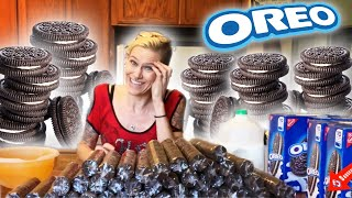 OREO NEW WORLD RECORD -520 OREOS - OVER 13 LBS! MATT STONIE DEFEATED! 40 PACKAGES VS MOLLY SCHUYLER