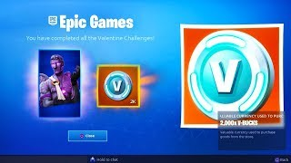 *NEW* Potential V-Bucks & DARK SKIN VALENTINE REWARDS! (Fortnite Valentine Rewards & Challenges)
