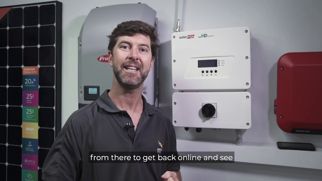 Infinite Energy - Re-connecting Your SolarEdge HD Wave After NBN