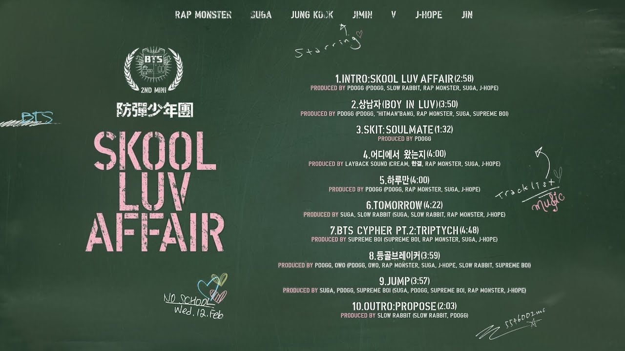 BTS - Skool Luv Affair (Full Album)
