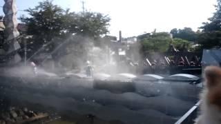 今日は暑かったので夕方氷見の町中を流れる湊川の橋のハットリくんのか...