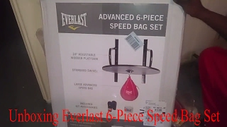 Unboxing And Installation Of Everlast 6 Piece Advanced Speed Bag Set