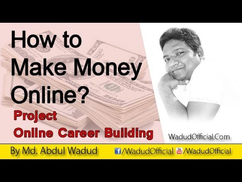 How to make money online - Detail Concept