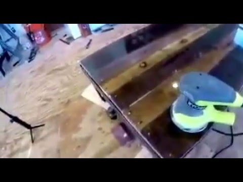 Epoxy Resin Table Top - Trial and Error Showing What Happens When Sanding  With Orbital Sander