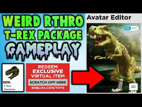 WEIRD! NEW RTHRO PACKAGE! T-Rex Skeleton Gameplay!