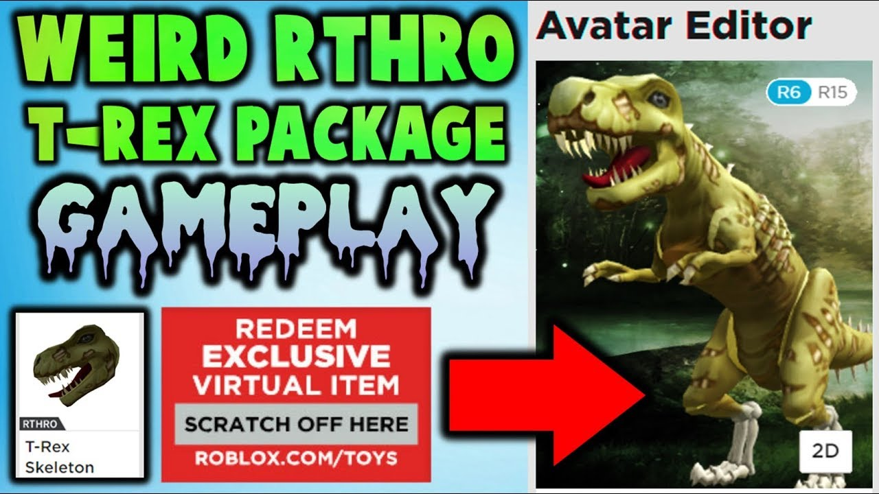 Weird New Rthro Package T Rex Skeleton Gameplay Youtube