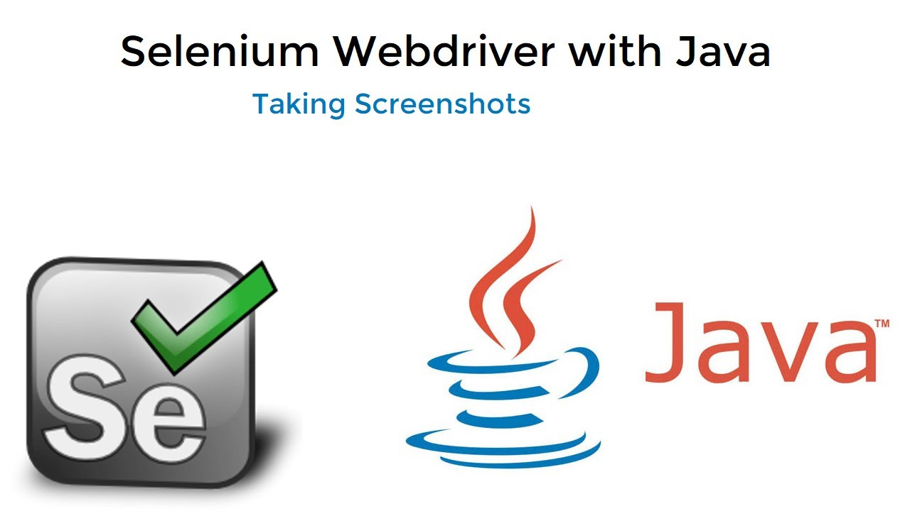 Taking Screenshots with selenium Webdriver